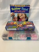 Rainbow Loom Bracelet Making Kit Manual And Colored Band - Excellent Condition