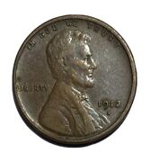 1912-s Lincoln Wheat Cent Penny Extra Fine