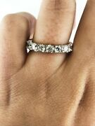 2.16 Ct Round Real Diamond Full Eternity Wedding Band Ring Size 7 Solid 14k Gold