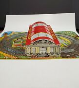 Vintage Pre-war Marx Toys Union Station Train Station Tin Litho - Made In Usa