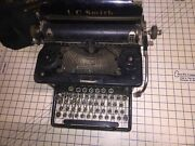 Vintage Lc Smith And Corona Typewriter Llc. 8-10in