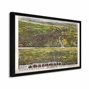1894 Los Angeles Map - Framed Vintage Map Of Los Angeles Ca Wall Art Poster