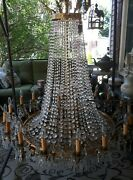 French Empire Crystal Basket Vintage Antique Chandelier Props Theater Movie