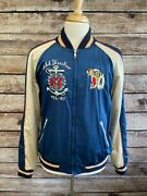 Hard To Find Polo Satin Souvenir Jacket Size Xl Embroidered Eagle