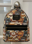 New With Tags Loungefly Disney Star Wars Ewok Collage Faux Leather Mini Backpack