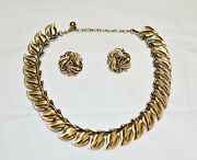 Trifari 3 Pc Necklace And Earrings Jewelry Set 1224