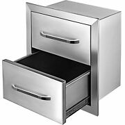 Bbq Island /outdoor Kitchen Drawer 18x20.5 Stainless Steel Double Narrow Drawer