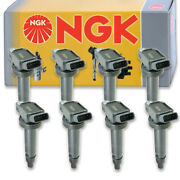8 Pc Ngk Ignition Coils For 2016-2018 Lexus Gs F 5.0l V8 Spark Plug Wire Hf