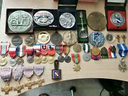 Lot Military Medals For Shooting And Orders Badges