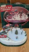 Mr. Christmas Rock 'n Roll Animated/musical Diner And Ice Skating Rink Works Read