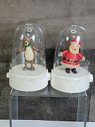 Hallmark Happy Tappers 2008 Reindeer And Santa Claus Tested Christmas Decor 🎄 🎅