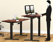 Electric Height Adjustable Standing Desk Large Sit Stand Workstation 55 Inches