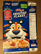 Kellogg's Frosted Flakes Sip-n-spoon Cereal Box Tony The Tiger Flat Empty 2018