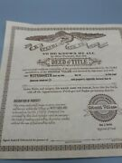 Lefton Colonial Village Deed Of Title For Watts' Candle Shop Lot 07470