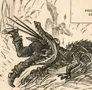1880s-90s Victorian Sample Comical Trade Cards Alligator And Artist Lot Of 2 P222