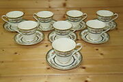 Minton Stanwood Gold Trim 8 Cups 3 And 8 Saucers 5 3/4