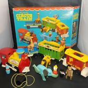 Vintage 1973 Fisher Price Play Family Circus Train 991 - Complete W Box Wow