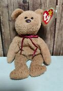 Ty Beanie Babies Curly The Bear Plush 4052 Retired With 10 Errors - Super Rare