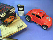 Testors Gas Engine Tether Car Vw Bug W/ Box And Fuel Can Volkswagon Cox