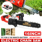 16 Inch Cordless Electric Chainsaw Brushless Wood Cutter For 18v Makita
