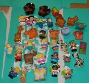 Huge Lot Of 34 Fisher Price Little People Animals Horse Rare Buffalo Lots More