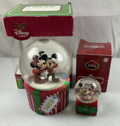 Disney Store, Jc Penney 2013 Mickey Mouseand Minnie Mouse Snow Globes