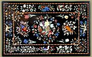 30 Inches Marble Coffee Table Top Inlay Multi Color Stones Center Table For Home