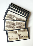 18 Photos Stereo Java Coulée Volcan Lahar Indonesia Stereoview Cards N Keasberry