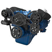 Black Diamond Serpentine System For 429 And 460 - Ac, Power Steering And Alternator