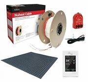 Nuheat Radiant Floor Heat Kit With Membrane Thermostat Cable And Safety Tools