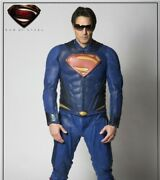 Superman Man Of Steel Real Mold Injected Leather Jacket And Pants Ud Replica 13