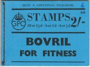 George Vi Bd12 430 2/- Empty Booklet. No Stamps. Pipe Tobacco Ad