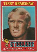 1971 Topps Terry Bradshaw Rookie Card 156 - Very Good/excellent