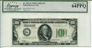 Fr 2151-g 1928a 100 Federal Reserve Light Green Seal 64 Ppq Very Choice New