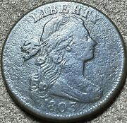 1803 Large Cent Stems Small Date And Fraction Fine Details S251