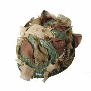 Ww2 Us Army Soldier Usmc Air Force Paratrooper M1 Helmet With Camouflage Strap