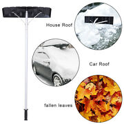 Roof Snow Rake Removal Tool 20 Ft With Adjustable Telescoping Aluminum Handle