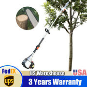 37cc Gas Powered Pole Saw Cordless Chainsaws Tree Trimmer Long Reach 4-stroke Us