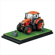 Kubota Tractor M7-172 With Diorama Miniature 1/32 - Doors And Bonnet Can Open New