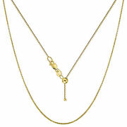 10k Yellow Gold Italian Box Necklace Bridal Fine Jewelry Gift For Women Size 24