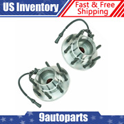 Timken 4wd W/ Abs Front Wheel Hub And Bearing Set Pair Kit For Ford Pickup Truck
