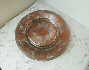 Antique Middle Eastern 14.5'' Copper Tray, Bowl, Wall