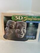 3d Sculpture Layer Puzzle Milton Bradley Masks Of Comedy And Tragedy New 1997