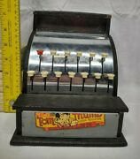 Vintage Tom Thumb Cash Register Tin Metal Toy Western Stamping Co. Chrome/silver