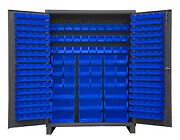 Durham Ssc-227-5295 Cabinet With 227 Blue Bins And 6 Legs 60x24x84