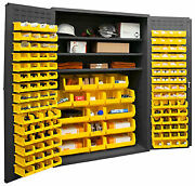 Durham 3502-138-3s-95 Cabinet With 138 Yellow Bins And 3 Shelves 48x24x72