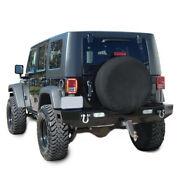 Spare Tire Cover Wheel Tire Cover Pure Black Fit For Jeep Wrangler 17 Size Xl