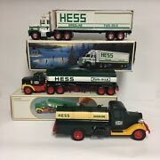 Vintage 1980s Collectible Hess Gasoline Toy Truck Toy Banks Lot Tankers Cargo