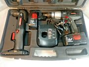 Craftsman 19.2v Set 1/2 Drill 3/8 Right Angle 2 Batteries Charger Case