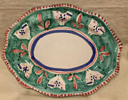 Vietri Solimene Oval Platter With Chickens 14andrdquox11andrdquo Great B